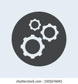 Gear gray icon. Vector illustration