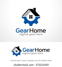Gear Home Technology Logo Template Design Vector