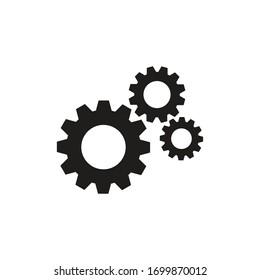 Gear icon flat vector design