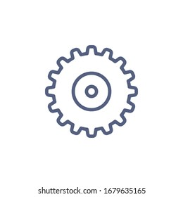 Gear Icon for Graphic Design Projects