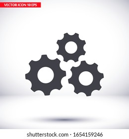 Gear icon. gear half. Vector graphics display work style. clipped gear vector graphics. for your site 10 eps