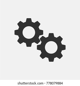 Gear icon illustration isolated vector sign symbol