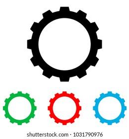 Gear icon. Gear logo
