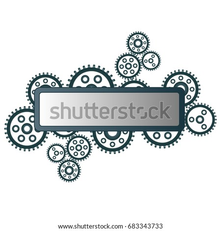 gear icon place your text steampunk stock vector royalty free