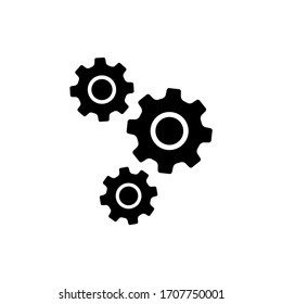 Gear icon. Settings, cog icon vector illustration