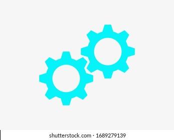 Gear icon. Settings icon. Gear mechanism illustration EPS10