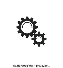 Gear icon template. Gear symbol vector sign isolated on white background. vector illustration.