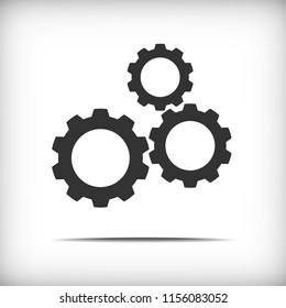 Gear icon - vector