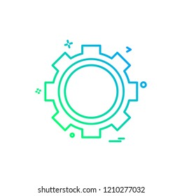 gear icon vector design