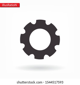 Gear icon. Vector, Eps 10 . Lorem Ipsum Flat Design