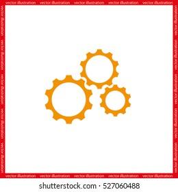 gear icon vector eps10