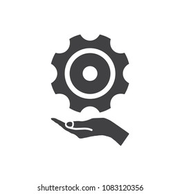 Gear Icon Vector flat design style