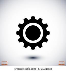 gear icon vector, flat design best vector icon