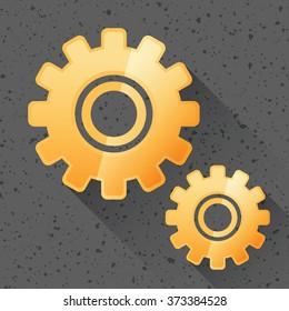 Gear Icon. Vector Illustration