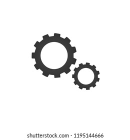 Gear icon . Vector illustration isolated on white background