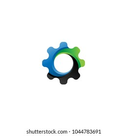 Gear icon vector. Logo element illustration. Cogwheel symbol design. Can be used as icon for web and mobile. modern gear logo design.