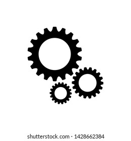 Gear Icon Vector Logo Flat Design