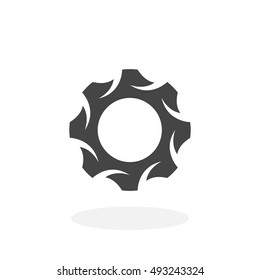 Gear Icon. Vector logo on white background