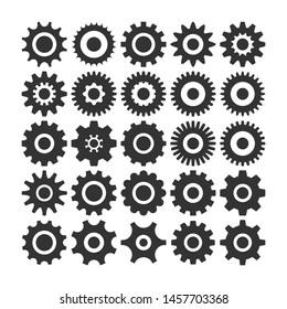 Gear Icon vector set, machine gear Icon collection.