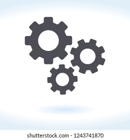 Gear icon vector. Setting