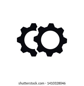 Gear icon vector ,setting icon sign illustration