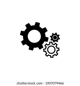 Gear Icon vector. Simple flat symbol on white background