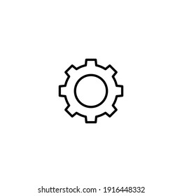Gear icon vector for web, computer and mobile app
