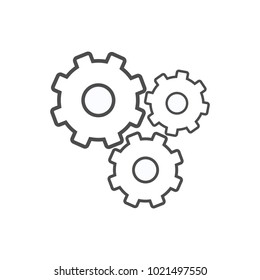 Gear Line Vector Icon template