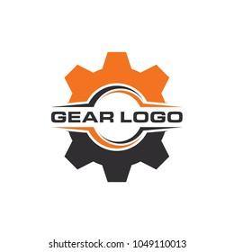gear logo design template