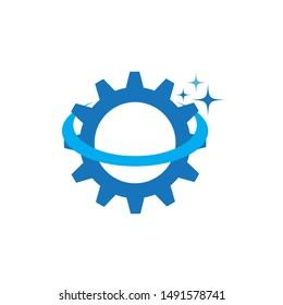 GEAR logo design template vector