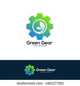 gear logo designs concept, nature industrial logo design template, service logo symbol designs