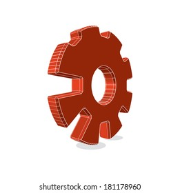 Gear logo - eps 10.