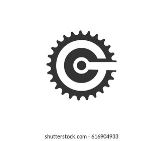 Gear logo icon