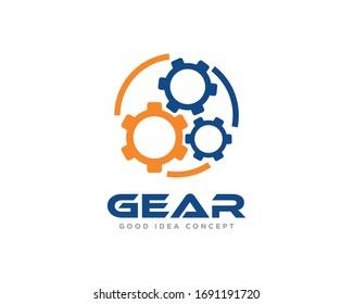 Gear Logo Icon Design Vector