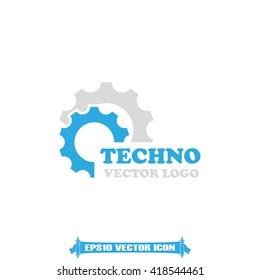 Gear logo icon vector illustration eps10.