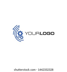 Gear Logo Technology Template vector icon illustration