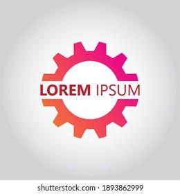 gear logo template. mechanic logo. simple and modern style logo. gear and mechanic illustration vector