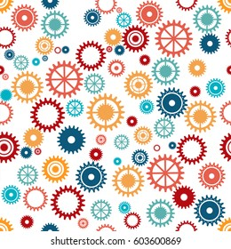gear machine pattern background