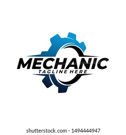gear mechanic logo icon vector