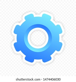 gear on isolated background. The Settings Icon. Illustration of the logo element. symbols'. colored gear. the concept of the installation. EPS-10.