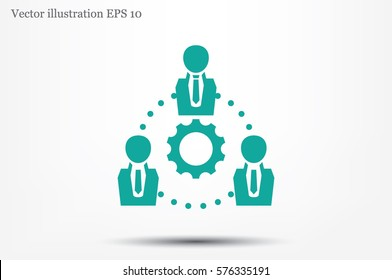gear people icon vector illustration.