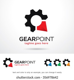 Gear Point Logo Template Design Vector