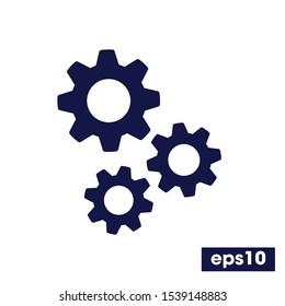 Gear Process icon, Process symbol, Simple operations icon Vector illustration