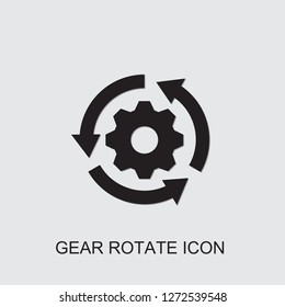 gear rotate icon . Editable filled gear rotate icon from innovation. Trendy gear rotate icon for web and mobile.