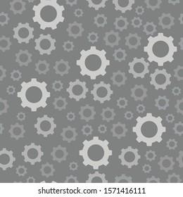 Gear seamless pattern background vector