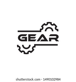 gear service logo and icon vector illustration design template