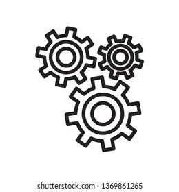 gear setting icon vector