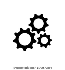 gear setting logo icon vector