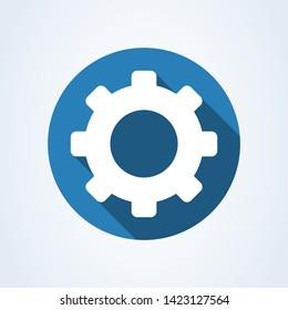 Gear setting Simple vector modern icon design illustration.
