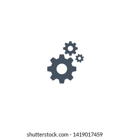 Gear settings icon. Icon in the dark version for mobile applications, web sites. Vector illustration